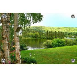 Tuinposter Natuur Bomen meer Canada (5050.3026)