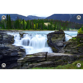 Tuinposter Waterval Rivier Canada (5050.3030)