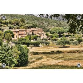 Tuinposter Dorp in de Provence (5090.3012)