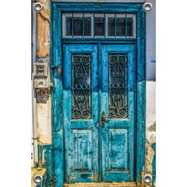 Tuinposter Oude deur Griekenland (5090.3035)