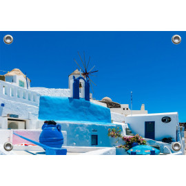 Tuinposter Griekenland Santorini (5090.3036)