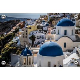 Tuinposter Santorini Wit-Blauw (5090.3037)