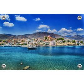 Tuinposter Dorp aan zee Griekenland (5090.3042)