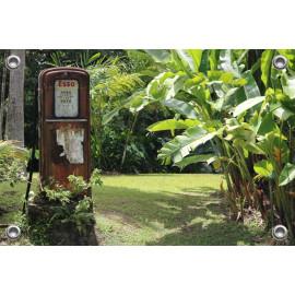 Tuinposter Vintage Benzinepomp (5096.3004)