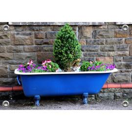 Tuinposter Badkuip met Planten (5096.3013)