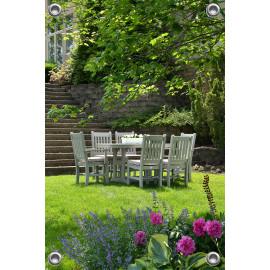 Tuinverruimer-Schuttingposter  - Tuinstel in Achtertuin (5054.1136)