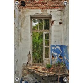 Tuinverruimer-Schuttingposter  - Vintage open deur (5054.1144)