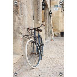 Tuinverruimer-Schuttingposter  - Transport fiets in Frans Straatje (5054.1147)