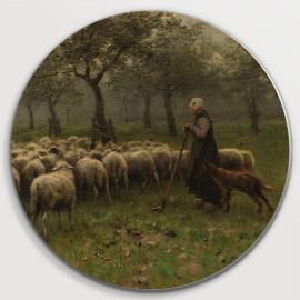 Herderin met kudde schapen (5010.2016)
